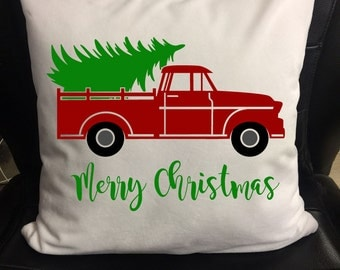 Christmas Pillows, Merry Christmas Pillow Cover, Pillow Wrap, Pillow Case, Pillowcase Tree Delivery