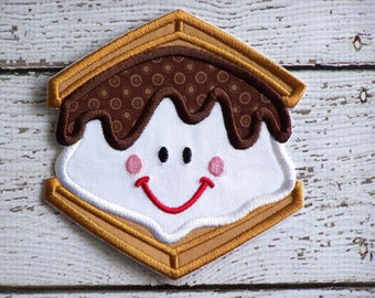 Happy Smores Iron On Or Sew On Fabric Applique