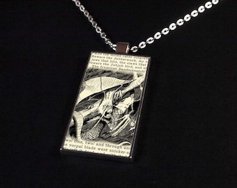 Jabberwocky - Art Pendant - Fantasy Illustration