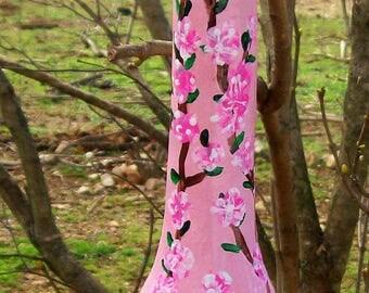 Cherry Blossoms:  Handpainted Gourd Birdhouse