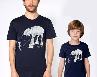 My AT-AT Pet matching father son shirts, Father's day gift, star wars family t-shirt set, daddy and son, daddy's girl gift, father daughter