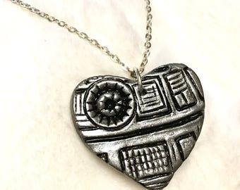 Death Star Heart Pendant