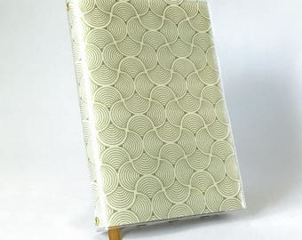 Paperback Book Cover - Reusable, Protective and Adjustable - Small Mass Market Size - Stylish Book Cover with Gold Deco Scallop Design