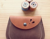 Handmade, Leather clutch Large Purse, MERRY 3178 Tan, Nut brown