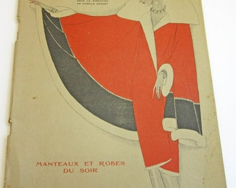 RARE Vintage French Magazine Chiffons December 1927 1920's Fashion & Couture Chanel Illustrations