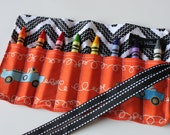 Race Car Crayon Roll-Great Gift or Stocking Stuffer-8 Crayola Crayons Included-Ready to Ship