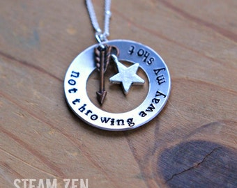"Hamilton ""Not Throwing Away My Shot"" Charm Necklace - Hamilton Fan - Hamilfan Gift"