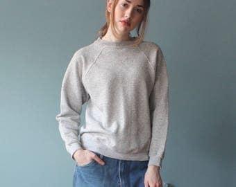 heather pullover sweatshirt | light gray thin pullover | small medium