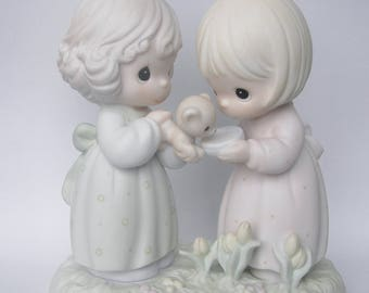 """Precious Moments """"I'm So Glad That God Has Blessed Me With A Friend Like You"""" Porcelain Figurine - Enesco - Vintage Collectible - Retired"""