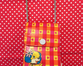 Vintage Japan Retro Kawaii Doll Size Shopping Bag Carry All Stroller