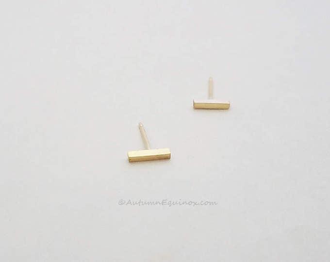 Gold Bar Earrings 14k Gold Filled