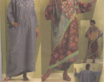 Vogue 1106 Misses Dramatic Unique Pullover CAFTAN Pattern Koos Couture Fabric Collage Womens Sewing Pattern Size Lg Xl Bust 38 - 44 UNCUT