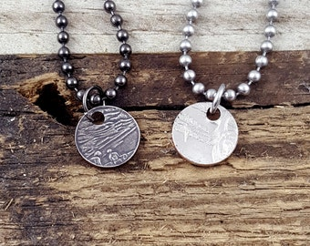 National Park Coin Ring Add On Punch Out Necklace MA0805-TNPCUST