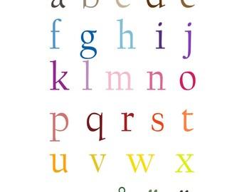 Swedish Alphabet Poster - 11 x 17 inches