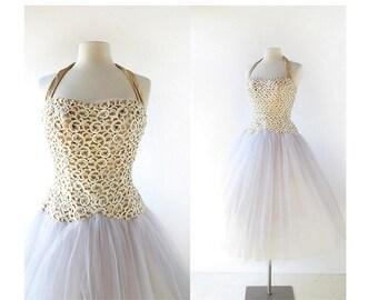 50s Party Dress | La Cendrillon | 1950s Dress | Ballerina Dress | XXXS XXS