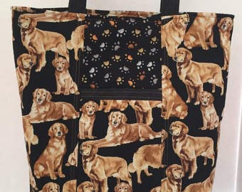 Golden Retriever Tote - Reversible