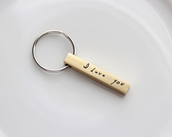 Custom Handwriting Keychain - Custom Engraved Key chain, Personalized Gift, Custom Key chain Engraved Keychain Handwriting Gift, Handwriting