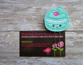 Felt Paperclips - Mint Green Macaroon Cookie Paper Clip Or Bookmark - Food Accessories For Planners, Calendars, Or Books - Sweet Shoppe