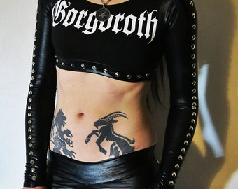 Gorgoroth Studded Crop Top