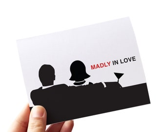 anniversary card // love card // madly in love mad men card // retro card // wedding anniversary card // love you card // card for husband