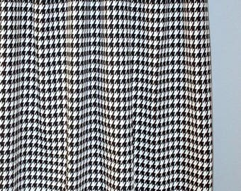 """Houndstooth Black White - Curtain Panels - Premier Prints Large Houndstooth - 25"""" or 50""""  wide - You choose length"""