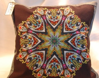 Mandala/Kaleidoscope Pillow Cover #7