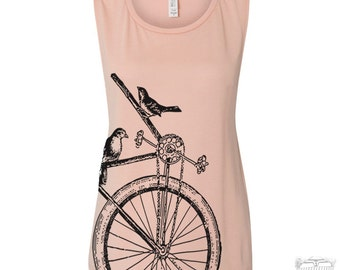 Womens Sparrow Bike Flowy Muscle Tee Tank shirt size s m l xl xxl