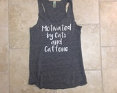 Mothers Day, Cat shirt, boho chic, tank workout, funny, Womens Tank Top, Crazy Cat Lady, girlfriend gift, yoga clothes, cats, wife gift