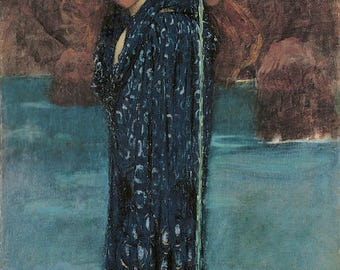 Circe Invidiosa by John William Waterhouse ~ 1892 ~ Giclee Print - Greek Mythology -Mystical - Wiccan ~ Goddess - Supernatural Wall art