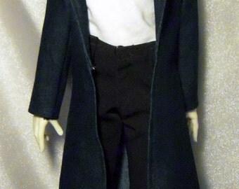 Blue denim long coat for SD boy dollfie, 1/3 bjd DOLL