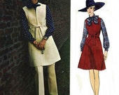 Vintage Vogue Pattern 2414 Belinda Bellville Jumper Blouse Pants Uncut Sewing Pattern, Vogue Couturier Design, Bust 34 Size 12
