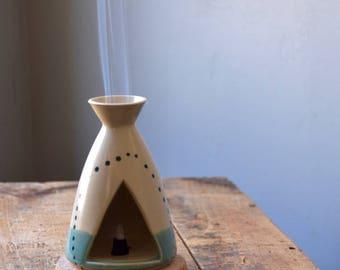 Incense Burner Tipi / Teepee MADE TO ORDER