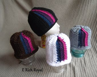 Color Splash Beanie, Rich Royal Infant Hat