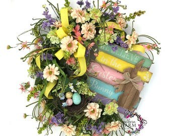 Easter Bunny Wreath, Easter Wreath, Spring Wreath,