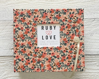 BABY BOOK | Rifle Paper Co. Rosa Floral Peach Album
