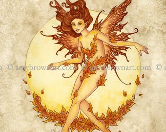 Fire Elemental Fairy 8X10 PRINT by Amy Brown