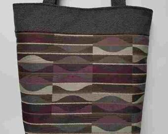 Purple and gray Handmade Purse