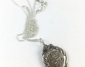 Oregon Necklace, Oregon Spoon Necklace, Spoon Jewelry, Oregon Jewelry, Oregon charm, Vintage Oregon