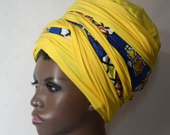 Island & Sun  Headwrap  -Fashion Headwrap- African Inspired- Women Hair Covering- Choose a length
