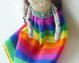 Freedom Hippie Art Doll