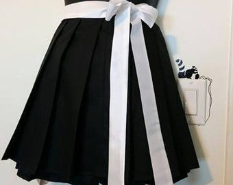 Black Pleated Skirt Anime School Girl Cosplay With or Without Sash **Also Available in Other Colors**