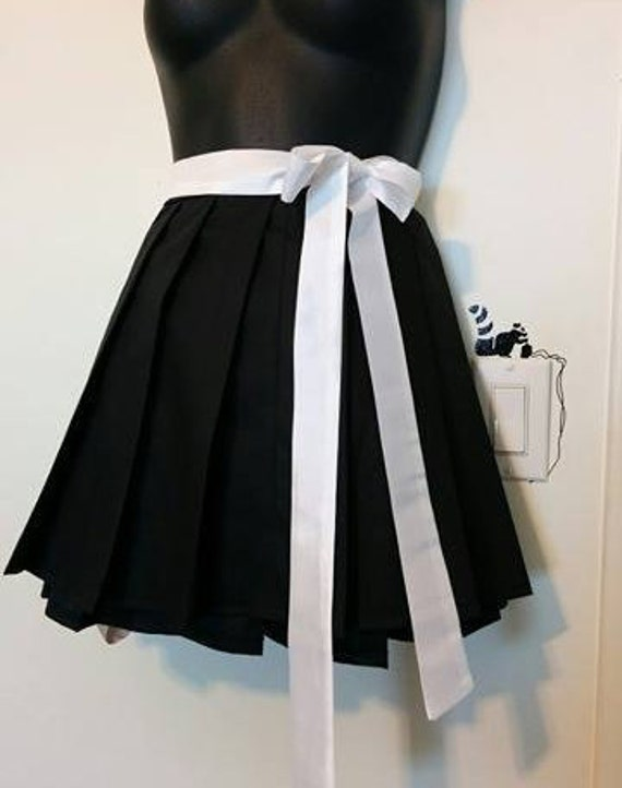 black pleated skirt anime school with or without