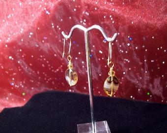 Tiger Stripe Glass Beaded Earrings
