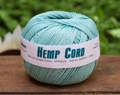 Hemp Cord, 1mm, Sky Blue, 430 Feet, Colored Hemp Twine -T70