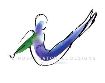 Boomerang   Pilates Art Print, Pilates Gift, Pilates Studio Decor, Inspiration Art, Gifts, Pilates Inspiration