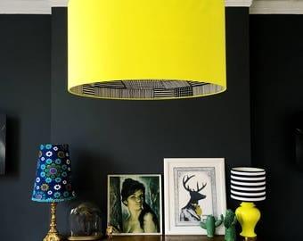 Sunshine Yellow Marimekko Handmade Silhouette Lampshade