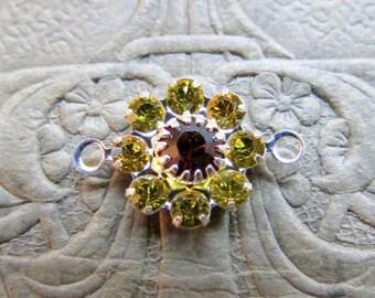NEW 10 mm Swarovski Crystal Flower Links . 1 link