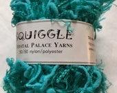 Sale - Crystal Palace Yarns Squiggle #2267 Neptune Teal  - Great CarryAlong! - PigTail Eyelash
