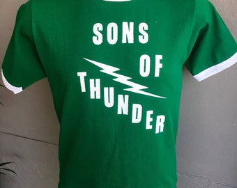 Sons of Thunder 1980s vintage jersey #77 green size large