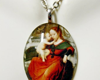 Madonna and Child pendant with chain - GP04-229